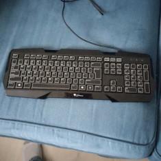 Tastatura Natec Gaming Genesis RX22 QWERTY Luminoasa 3 culori- tasta lipsa