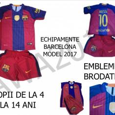 ECHIPAMENTE BARCELONA-MESSI 2017, COPII 2- 14 ANI, LIVRARE GRATUITA - Set echipament fotbal, Marime: XXL, XL, M, S