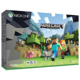 Consola Xbox One Slim 500 Gb White Plus Joc Minecraft Favourites, Microsoft