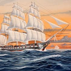 Macheta Corabie U.S.S. Constitution - RV5472 - Macheta Navala Revell