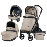 Carucior 3 In 1, Peg Perego, Book Plus 51, Black, Pop-Up Elite, Peg Perego
