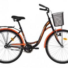 Bicicleta DHS Citadinne 2632 (2016) Culoare Negru/Alb/Portocaliu 480mmPB Cod:21626324869 - Bicicleta de oras