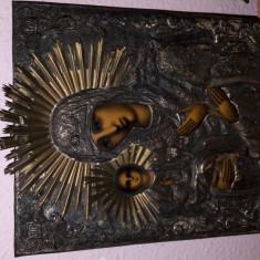 Icoana Maicii Domnului Cu Trei Maini - Icoana pe sticla