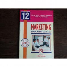 Marketing Manual pentru clasa a XII-a, Tantica Petre, Gabriela Simionescu