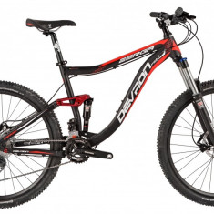 Bicicleta Devron Zerga FS6.7 Negru-Rosu, 430mmPB Cod:216ZF674362 - Mountain Bike Devron, 17 inch