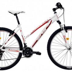 Bicicleta DHS Terrana 2722 (2016) Culoare Alb/Rosu 420mmPB Cod:21627224292 - Mountain Bike