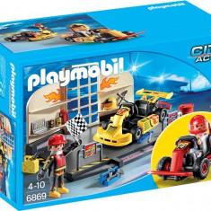 Set Garajul Carturilor - Masinuta electrica copii Playmobil