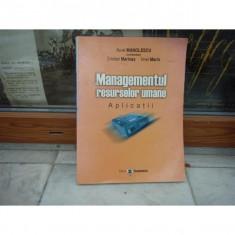 Managementul resurselor umane, Aurel Manolescu - Carte Management