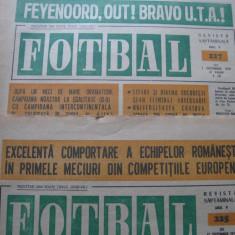 Revista FOTBAL (nr.225 sept 70), UTA-Feyenoord, cronici si comentarii - Program meci