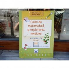 Caiet de matematica si explorarea mediului pentru clasa a II_a partea I , Stefan Pacearca