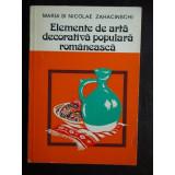 ELEMENTE DE ARTA DECORATIVE ROMANEASCA