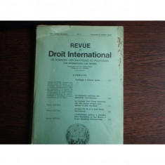 REVUE DE DROIT INTERNATIONAL NR.4/1973