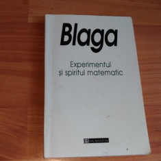 EXPERIMENTUL SI SPIRITUL MATEMATIC-LUCIAN BLAGA