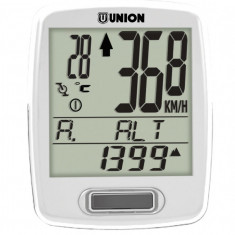 Kilometraj Union 12 Functii Wireless AlbPB Cod:588040335RM, Ciclocomputer bicicleta