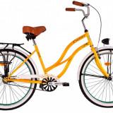 Bicicleta DHS Cruiser 2696 (2016) Culoare Crem 500mmPB Cod:21626965040 - Bicicleta de oras DHS, 13 inch, Otel