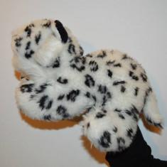 Marioneta teatru de papusi, papusa manuala, ghepard polar/felina alba cu pete - Jucarii plus