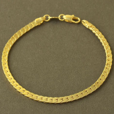 LIVRARE GRATIS Bratara barbati placata aur 14k model sarpe - Bratara placate cu aur pandora