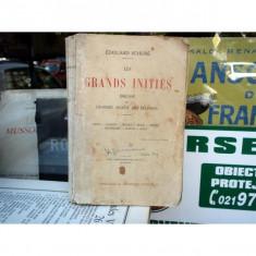 Grands inities - esquisse de l'histoire secrete des religions , Edouard Schure , 1935