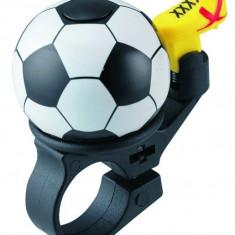Sonerie Copii Fotbal Metal/Plastic Negru/Alb/GalbenPB Cod:MXBAC0611