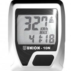 Kilometraj Union 5 Functii cu Fir Argintiu/NegruPB Cod:588040210RM - Accesoriu Bicicleta