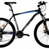 Bicicleta DHS Terrana 2625 (2016) Culoare Negru/Gri/Albastru 495mmPB Cod:21626254963