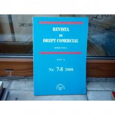 REVISTA DE DREPT COMERCIAL SERIE NOUA ANUL X NR.7-8 2000 , Cursuri