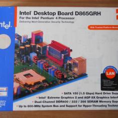 Placa de baza Intel D865GRH AGP Video onboard Socket 478, Noua., Pentru INTEL, DDR