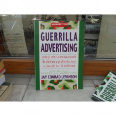 Guerilla Advertising, Jay conrad Levinson - Carte de publicitate