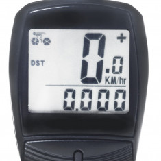 Kilometraj WAG 13 Functii cu Fir NegruPB Cod:588040351RM, Ciclocomputer bicicleta