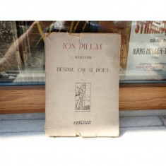 Marturii despre om si poet , Ion Pillat , 1946