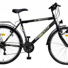 Bicicleta Kreativ 2613 culoare NegruPB Cod:215261360 - Bicicleta de oras DHS, Otel