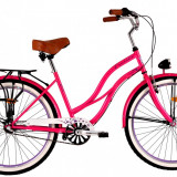 Bicicleta DHS Cruiser 2698 (2016) Culoare Roz 500mmPB Cod:21626985011 - Bicicleta de oras DHS, 13 inch, Otel