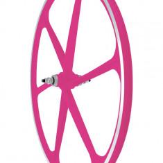 Roata Fata Fixa AeroWheels 700 Roz NeonPB Cod:40704PNARM - Piesa bicicleta