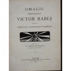 OMAGIU PROFESORULUI VICTOR BABES