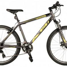 Bicicleta DHS Terrana 2625 Gri/Galben – 495 mmPB Cod:21526254974 - Mountain Bike DHS, 19.5 inch