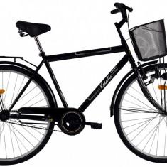 Bicicleta Kreativ 2811 culoare NegruPB Cod:215281160 - Bicicleta de oras DHS, Otel