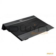 Stand notebook DeepCool 17' - aluminiu, 2*fan, 4* USB, dimensiuni 380X278X55mm, dimensiuni Fan 140X1 - Masa Laptop