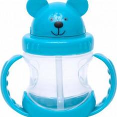 Cana de antrenament U-Grow cu manere Ursulet A-1022 210 ml Blue - Cana bebelusi