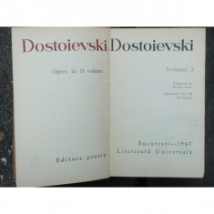 DOSTOIEVSKI - OPERE VOL. 3 - Carte Antologie