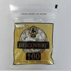 Filtre Discovery slim (6 mm) super long (22 mm) pentru tigari ! 100 buc. - Filtru tutun