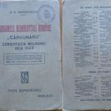 Barnoschi ,Originile democratiei romane ; Carvunarii ;Constitutia Moldovei, 1922