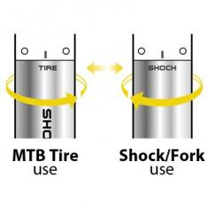 Pompa de mana duala Suspensie/roti Topeak Shock 'n Roll, TSNR-1PB Cod:TPK-40903