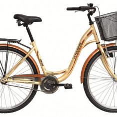 Bicicleta DHS Citadinne 2632 (2016) Culoare Crem/Maro 430mmPB Cod:21626324346 - Bicicleta de oras