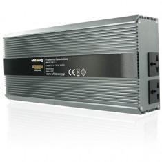 Whitenergy invertor DC/AC de la 12V DC la 230V AC 2000W, 2 AC receptacle - Incarcator Laptop