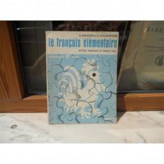 LA FRANCAIS ELEMENTAIRE , G. Mauger