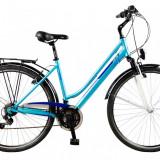 Bicicleta DHS Travel 2854 Culoare Albastru – 430mmPB Cod:21528544330 - Bicicleta de oras DHS, 11 inch, Otel