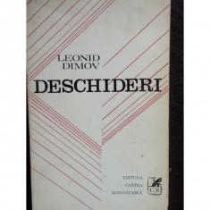 DESCHIDERI - LEONID DIMOV - Carte poezie