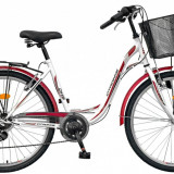 Bicicleta DHS Citadinne 2634 (2016) Culoare Alb/Negru/Roz 430mmPB Cod:21626344396 - Bicicleta de oras DHS, 11 inch, Otel