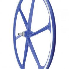 Roata Fata Fixa AeroWheels 700 AlbastruPB Cod:40704BARM - Piesa bicicleta