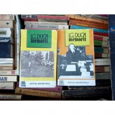 Memorii volumul III si IV Razboiul partea I si partea II, I. G. Duca, 1994 - Biografie